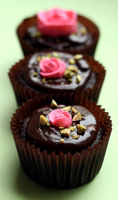 chocolate cupcakes bowl chocolate double chocolate chocolate cupcake ...