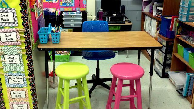 Classroom without a teacher's desk
