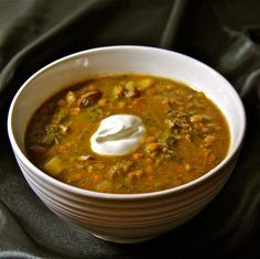 Polish Lentil Soup Recipe, really good with leek, caraway seeds, garlic, and a smoked ham hock. From Polska Foods: www.polskafoods.c...