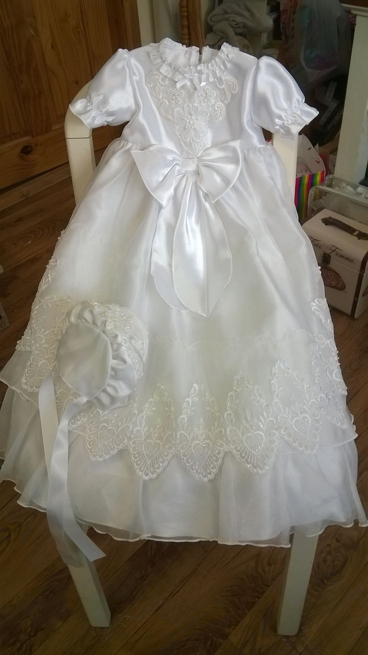 Christening robe made from Holy Communions dress