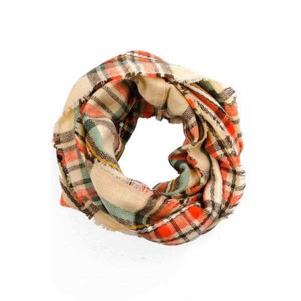 Seaside Beige Plaid Scarf ($26) ❤ liked on Polyvore featuring accessories, scarves, coral scarves, plaid shawl, tartan scarves, tartan shawl and tartan plaid shawl