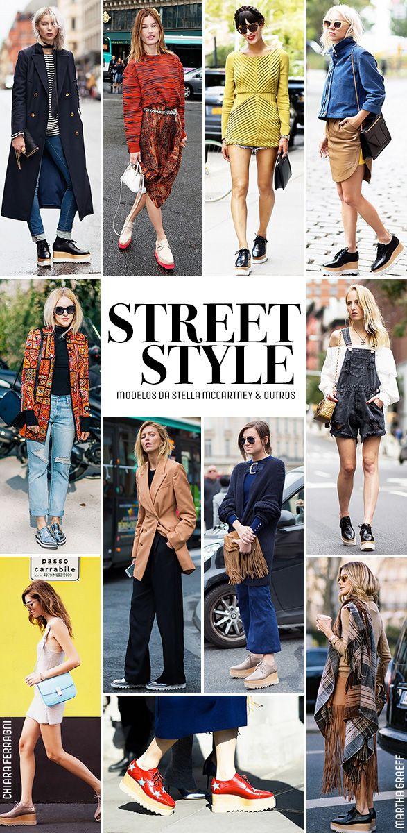 Confira os looks de street style das fashionistas mundo afora com os sapatos da Stella McCartney.