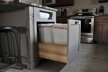 Trash can and paper towel storage - craftsman - Kitchen - Philadelphia - CDH Designs