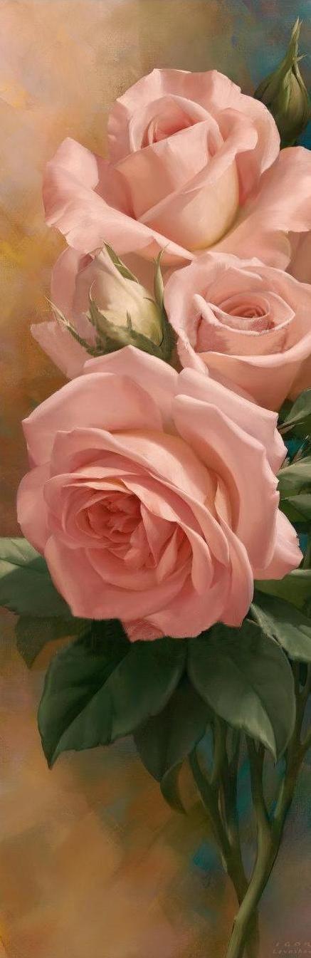 Vejam que pinturas belíssimas do artista Igor Levashov . Suas flores são simplesmente perfeitas!!!          Infelizmente não encontrei nenh...