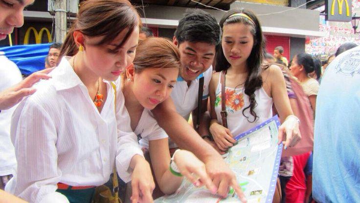 Navigating around Naga, Camarines Sur in all white outfit