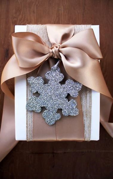 #Christmas gift wrapping ideas DIY crafts ToniK ⓦⓡⓐⓟ ⓘⓣ ⓤⓟ Satin ribbon elegant