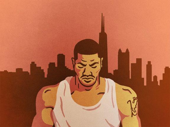 Derrick Rose 'Weight of a City' Art