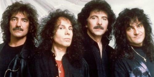 Black Sabbath: (from left to right) Geezer Butler, Ronnie James Dio, Tony Iommi and Vinny Appice