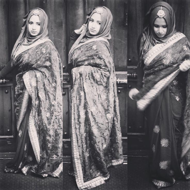 Saree hijab sari