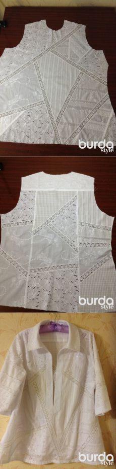 Блузка из батиста / Мастер-классы / Burdastyle