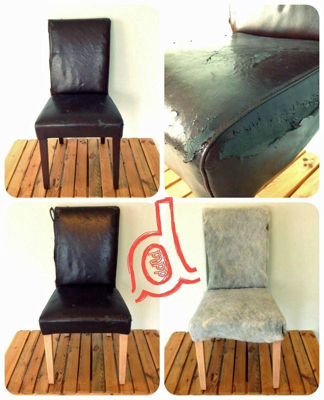 Rénovation de chaises, confection de housse, récup vieilles chaises. http://dodiladodu.canalblog.com/archives/2015/03/04/31644053.html