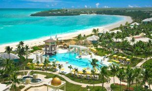 Sandals Emerald Bay Great Exuma, Bahamas features an oceanfront Greg Norman-designed championship golf course, a marina, and a Red Lane Spa. The 249-room property sprawls out over 500 tropical acres and features three pools, seven restaurants, six tennis courts, and comprehensive watersports offerings like snorkeling and diving. Top-tier suites come equipped with personal butlers, to boot.