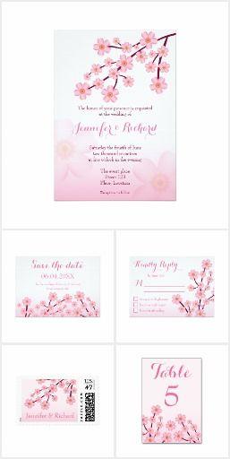 Cherry Blossom Pink Sakura Floral Wedding Set #wedding #sakura #cherryblossom #pink