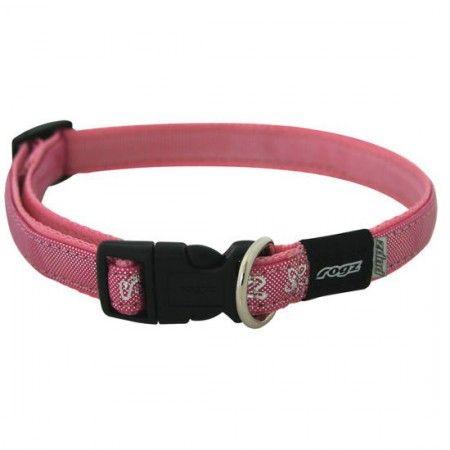 Rogz Pupz Zing Zip Zap Dog collar Pink - Small - Rogz pupz - globaldogshop.com