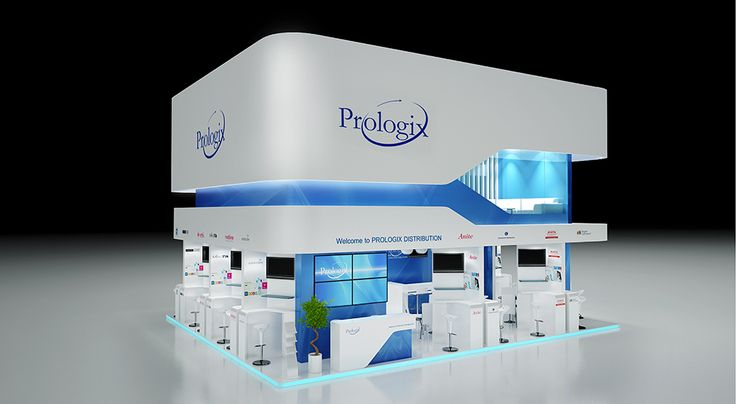 """Exhibition Stand for """"Prologix"""" designed by GM design group #exhibitionstands #exhibition #stand #booth #gmdesigngroup #gmdesign #gm #design"""