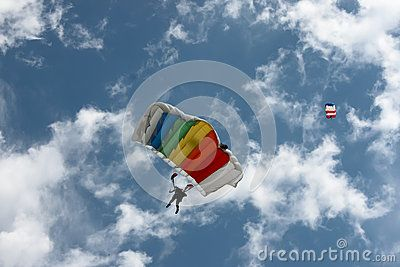 Parachutists In The Sky - Download From Over 24 Million High Quality Stock Photos, Images, Vectors. Sign up for FREE today. Image: 41623030