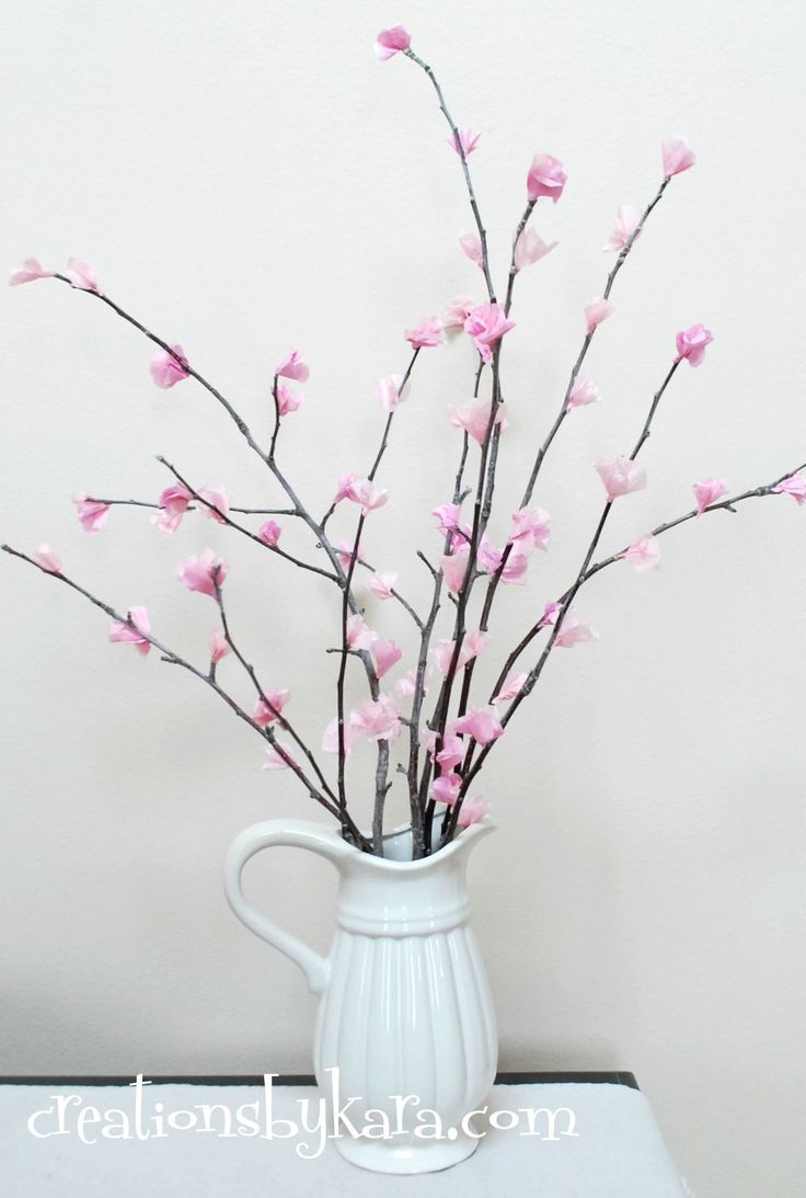 DIY Home Decor Dollar Store | diy cherry blossoms 018 — Creations by Kara