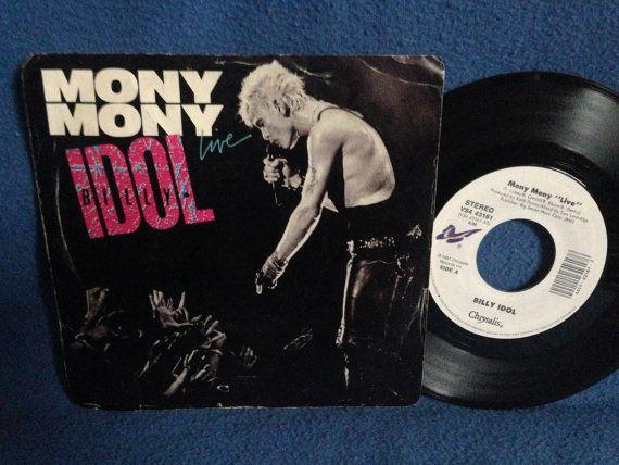 Vintage Billy Idol  Mony Mony Live / Shakin' All by sweetleafvinyl