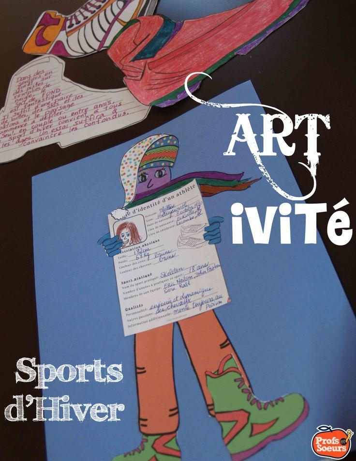 FRENCH CRAFTIVITY // 2 choix d'ARTIVITÉS // Apprendre sur les chaussures des athlètes de sports d'hiver et activité d'écriture