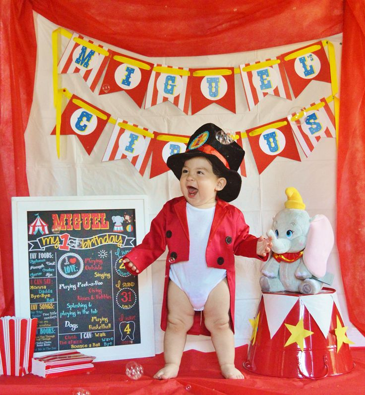Baby's First Birthday Pictures, Circus Party