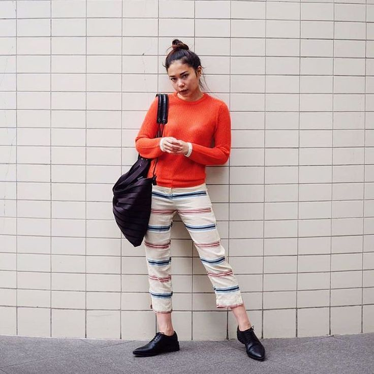 @ayladimitri is playing out her tangerine vibes. #youxcottonink #ootd | COTTONINK