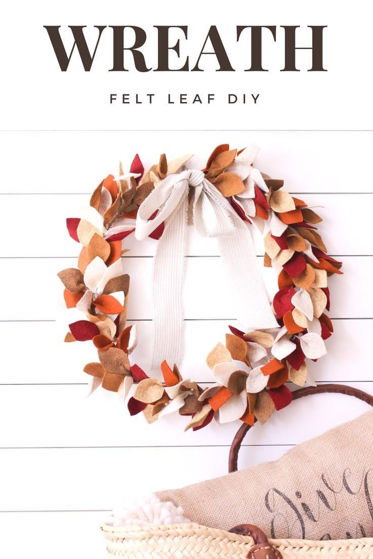 This post on how to make a beautiful felt leaf wreath for fall includes a  free felt leaf template. I show step by step instructions on how to create  your ...
