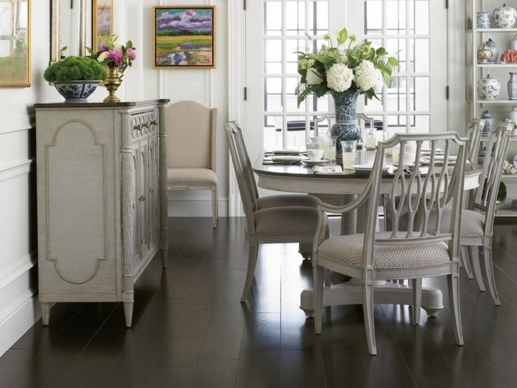 Dining Room Shabby Chic Narrow Dining Table With Big