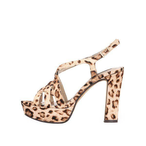 #ReduceriPantofi cu toc, -60% Sandale cu toc și imprimeu leopard de la Victoria Delef