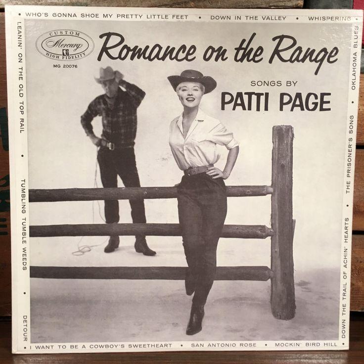 Patti Page • Romance on the Range Vinyl LP Mono 1955 Mercury Records Country Music Rockabilly by vintagebaron on Etsy