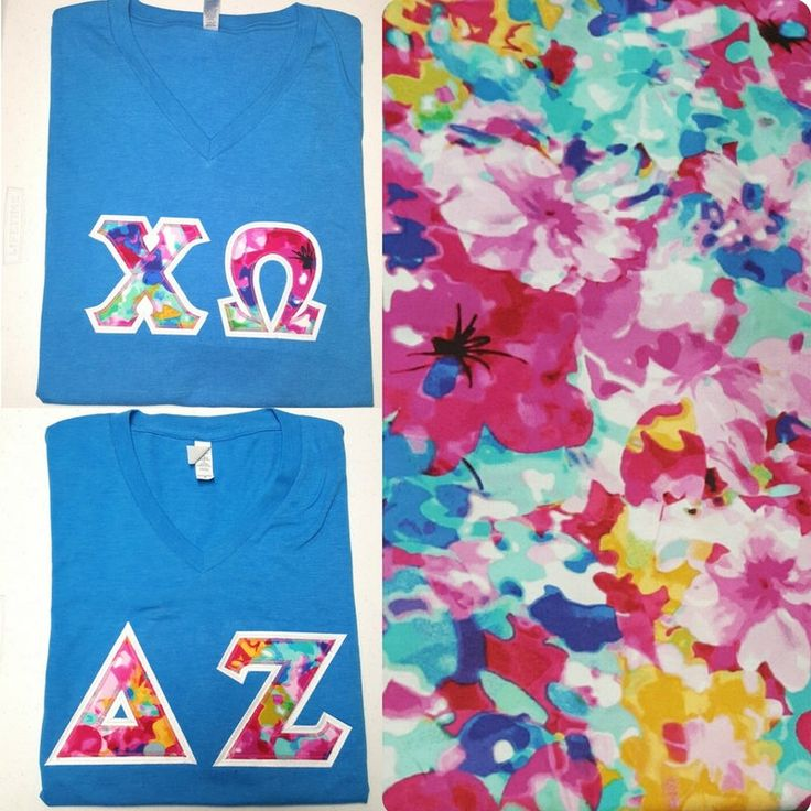 Beautiful New Sorority and Fraternity Greek V-Neck Letter Shirts - Custom by BlueFrogTs on Etsy