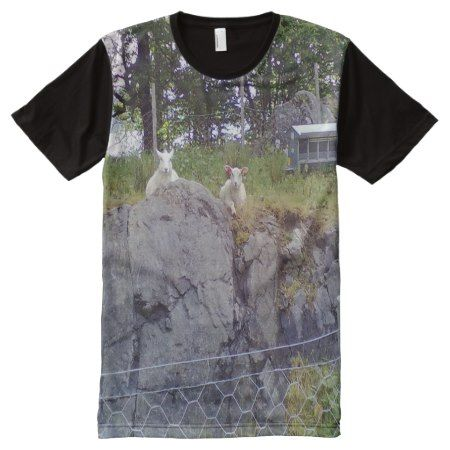 Siting and standing Sheep All-Over-Print Shirt - tap, personalize, buy right now!