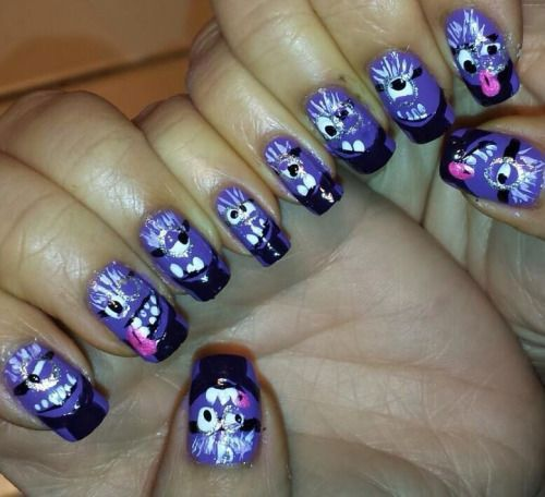 11 best images about purple evil minion nail art designs