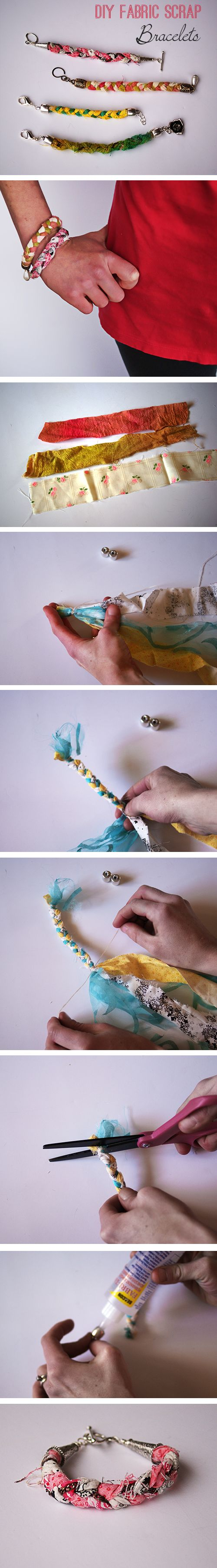 Easy Scrap Fabric Bracelet