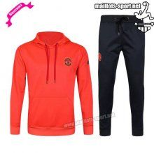 Ensemble De Survetement Homme Foot Manchester United hoodie Orange 2016 2017 Nouveau | maillots-sport