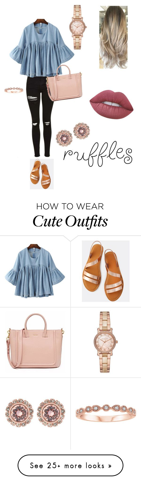 """Untitled #3"" by kaylahight2294 on Polyvore featuring Michael Kors, Ted Baker and Lime Crime"