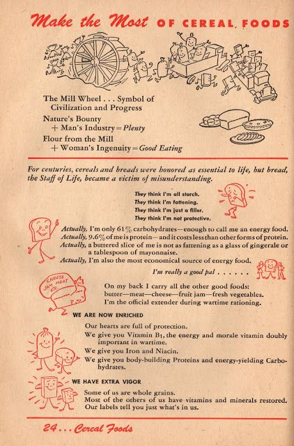 Making the Most of Cereal Foods: 1943 Betty Crocker Your Share - Wartime Meal Planning