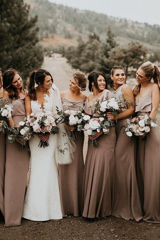 21 Ideas For Rustic Bridesmaid Dresses Wedding Dresses Guide Rustic Bridesmaid Dresses Fall Bridesmaid Dresses Brown Bridesmaid Dresses