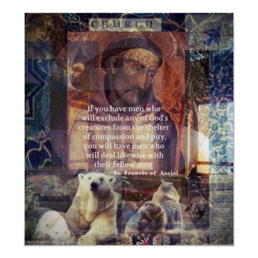 Pinterest Animal Quotes: St. Francis Of Assisi Quote About Animals Posters