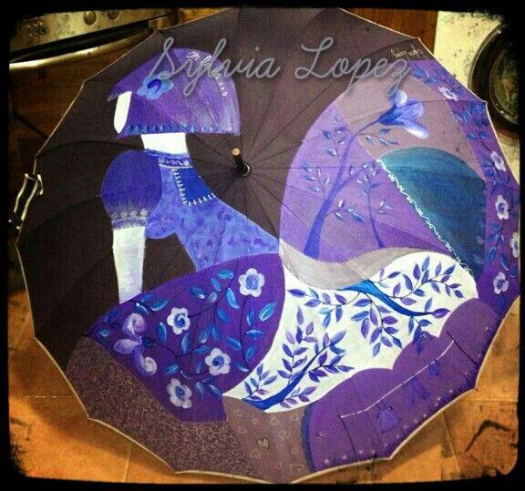 Paraguas pintados a mano