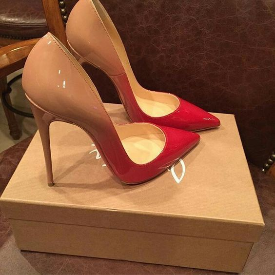 Nude to red shoes - LadyStyle