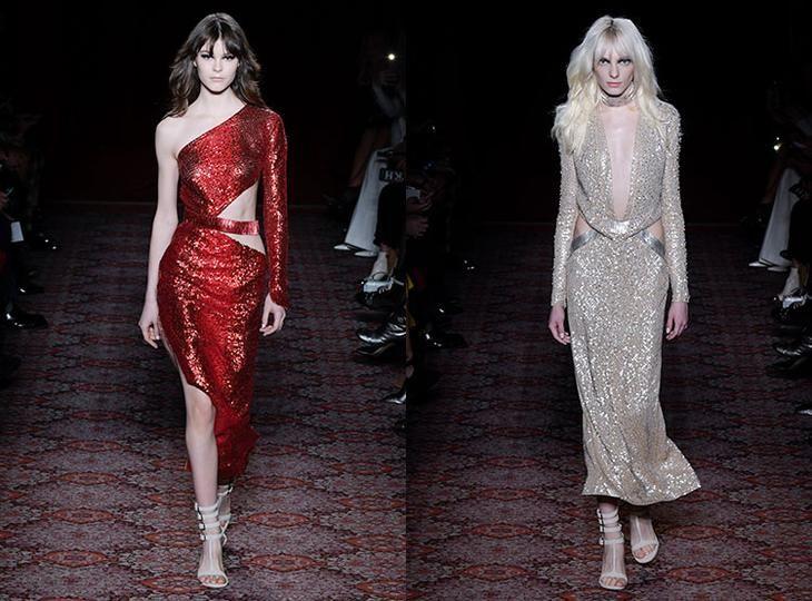 Модные блестящие платья 2018