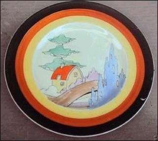 ~ Scenic Plate Clarice Cliff ...