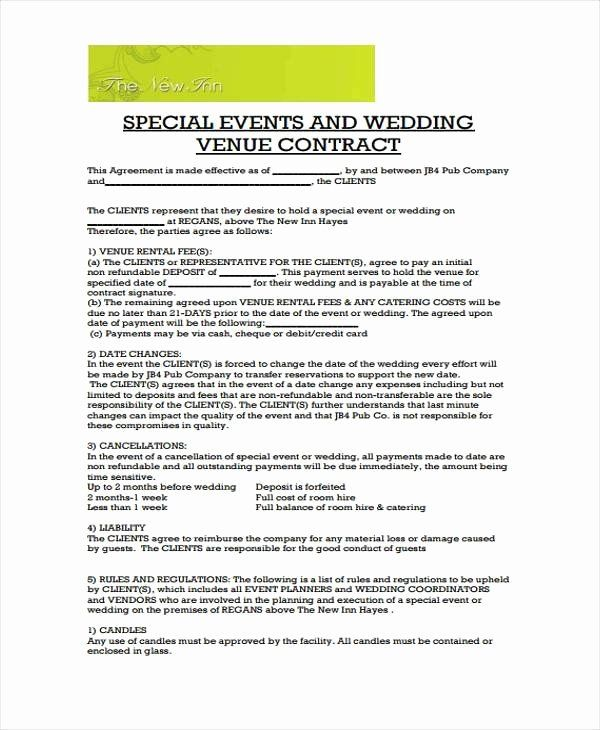 Event Venue Contract Template New Wedding Venue Contract Template Emmamcintyrephoto Event Planning Contract Event Planner Contract Rental Agreement Templates