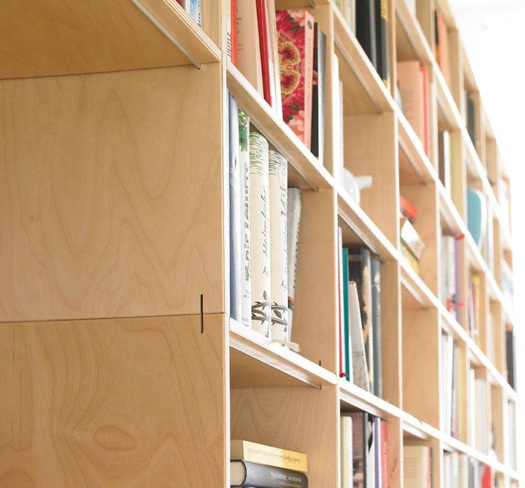 Schöne Bücherregale aus Multiplex im einfachem Stecksystem   Regalsystem-rio