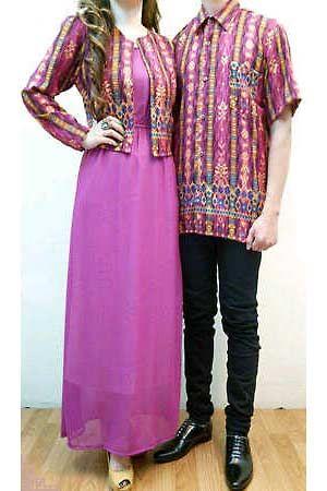 Batik couple warna ungu