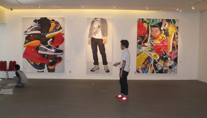 'sneakerhead painting : double fetishism' sigiart jakarta