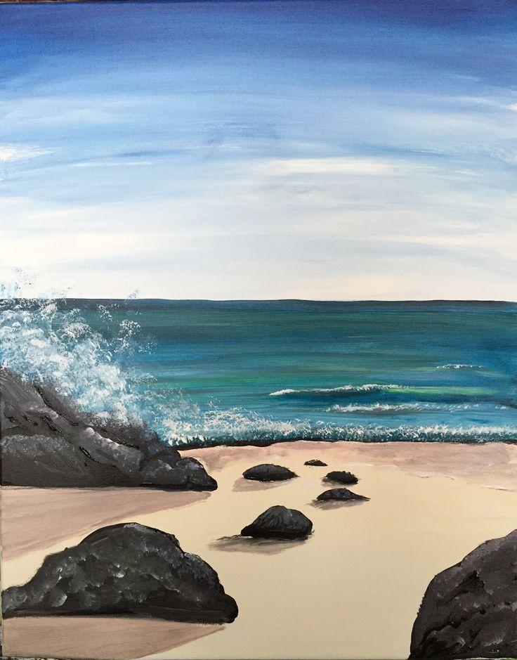 Paint Nite - The Ocean ROCKS! - JUNE