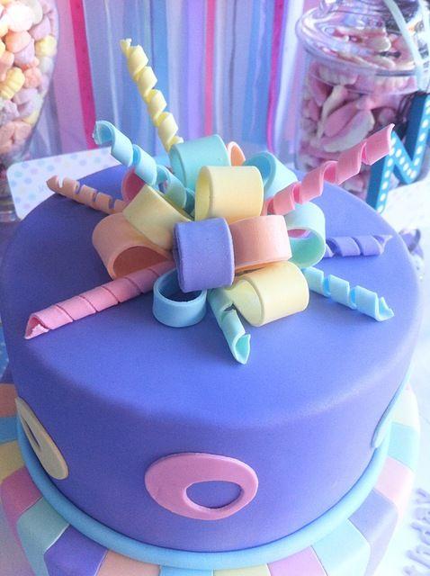 Pretty ribbon cake! #cake