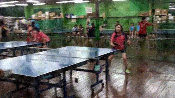 Girl using her head as table tennis racket https://i.imgur.com/34UKPtd.gifv