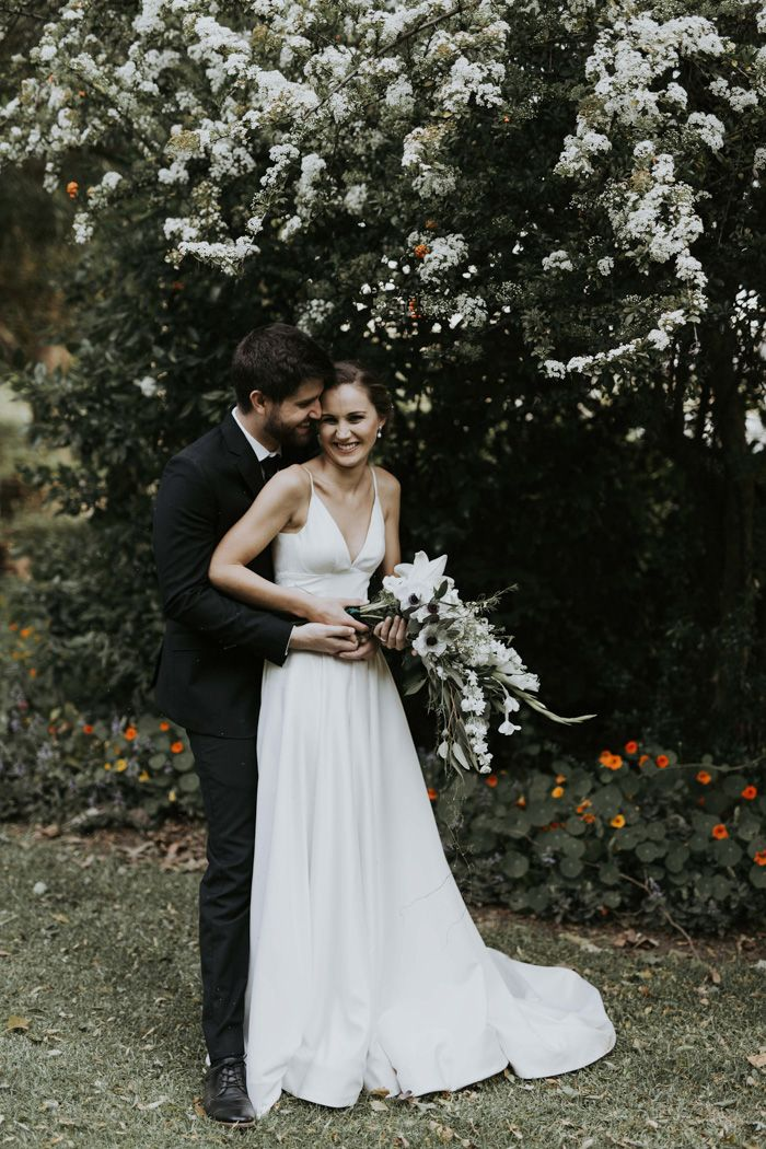 This Minimalist Rustic Montpellier Wine Estate Wedding Included The Sweetest Foot Washing Ceremony Junebug Weddings Estate Wedding Grey Purple Wedding Elegant Wedding Inspiration
